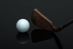 Golf club and ball Royalty Free Stock Image