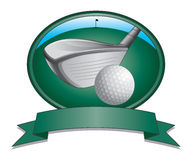 Golf Club and Ball Design Stock Photography