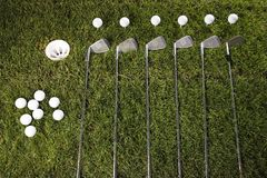 Golf club with ball & drive Royalty Free Stock Photography