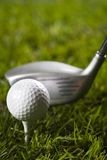 Golf club with ball & drive Royalty Free Stock Images