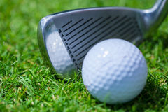 Golf club ball. Golfplayer close-up activity course golfcourse control stock image