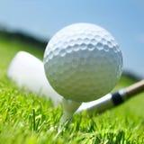 Golf club and ball Stock Photos