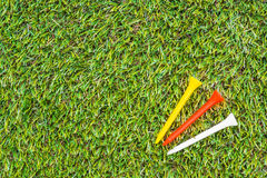 Golf club and ball in grass Stock Image