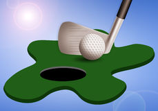 Golf club with ball Royalty Free Stock Photos