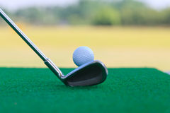 Golf club and ball,low camera height Stock Images