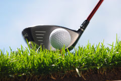 Golf club and ball Royalty Free Stock Photo