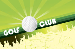 Golf club banner Stock Photography