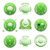 Golf Club Banners And Badges Set Royalty Free Stock Image