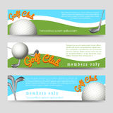 Golf club banners template Royalty Free Stock Photography