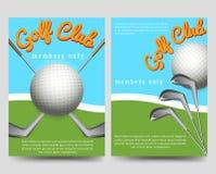 Golf club brochure flyers template vector illustration