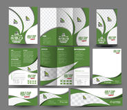 Golf Club Business Stationery. Set Template royalty free illustration