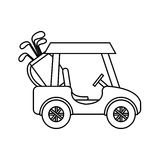 Golf club cart icon. Illustration design Stock Photos