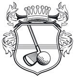 Golf club coat of arms vector illustration