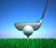 A golf club concept. 3D image Royalty Free Stock Photos