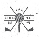 Golf club concept. With golf ball silhouette. Vector golfing club retro badge. Concept for shirt, print, seal or stamp. Typography design- stock vector Royalty Free Stock Photography