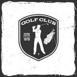 Golf club concept with golfer and bag. Royalty Free Stock Photos