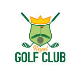 Golf club crest. Royal golf club crest game Stock Photo
