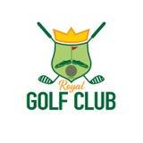 Golf club crest. Royal golf club crest game vector illustration