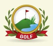 Golf club design Royalty Free Stock Photo