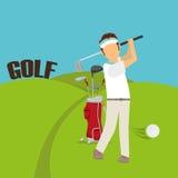 Golf club design Stock Photography