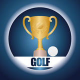 Golf club design Royalty Free Stock Photography