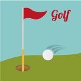 Golf club design Royalty Free Stock Photos