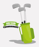 Golf club design Royalty Free Stock Images