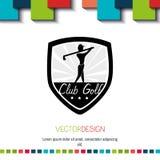 Golf club design Stock Photos
