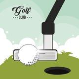 Golf club design Royalty Free Stock Image
