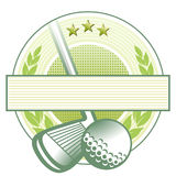 Golf club emblem Royalty Free Stock Photography