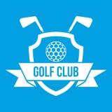 Golf club emblem icon white Stock Photos