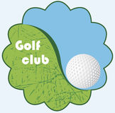 Golf club emblem Stock Images