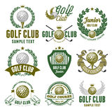 Golf Club Emblems Royalty Free Stock Photography