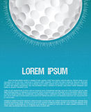 Golf club or golf course grunge flyer design template Royalty Free Stock Photo