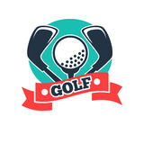 Golf club or golfer country sport team vector icon Royalty Free Stock Photo