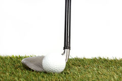 Golf club on the grass Stock Photography
