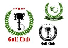 Golf club heraldic emblems and icons Stock Photo