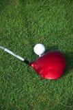 Golf club hitting a golf ball Royalty Free Stock Photos