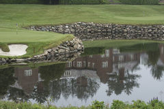 Golf Club House Reflection Stock Photo