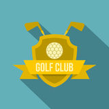 Golf club icon, flat style Stock Image