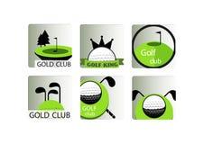 Golf club icons set Stock Photography