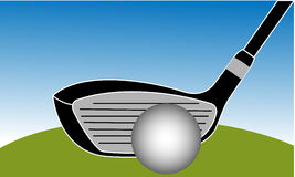 Golf Club Iron Vector Illustration Royalty Free Stock Image