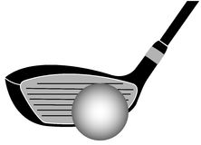 Golf Club Iron Vector Illustration Royalty Free Stock Photography