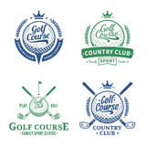 Golf Club Logo. Golf labels with sample text. Golf icon for golf tournaments, organizations and golf country clubs Stock Photo