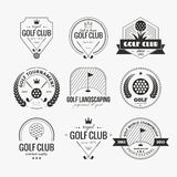 Golf Club Logo Stock Image