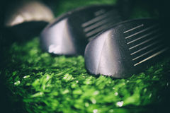 Golf club macro detail Stock Images