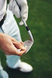 Golf club maintenace Stock Images