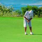 Golf club. Man playing golf Royalty Free Stock Photography