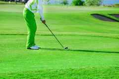 Golf club. Man playing golf Stock Image