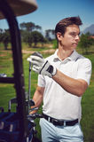 Golf club selection Royalty Free Stock Image